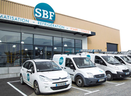 Zone d'intervention des techniciens SBF Energies